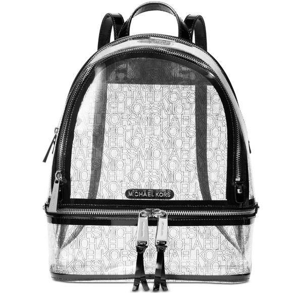 Michael Kors Handbags - Michael Kors Rhea Clear Logo Backpack